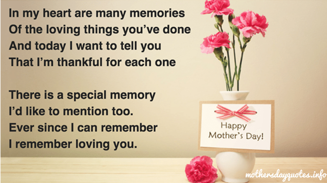 Sweet Mothers Day Poems From Daughter