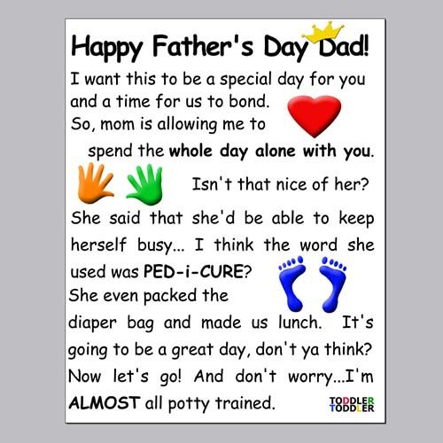 Father's day card messages from kids