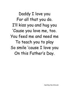 Printable Fathers Day Poems