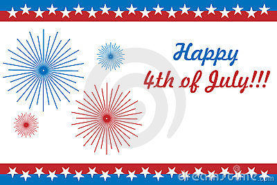 4th of July Printable Cards